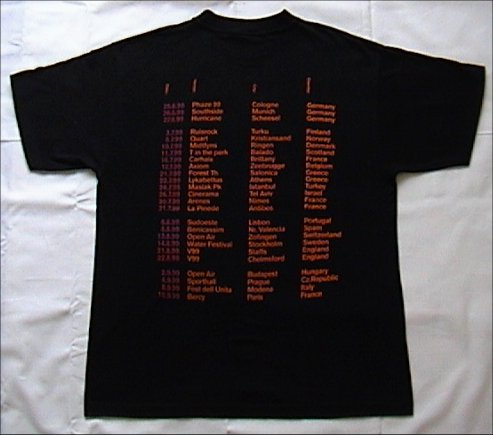 Inertia Creeps T-Shirt - Back (1999)